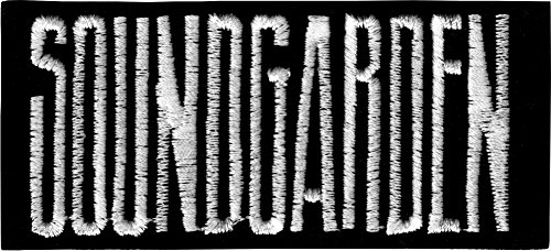 Soundgarden - Black & White Rectangle Logo - Embroidered Iron On or Sew On - Rectangle White And Black Logo