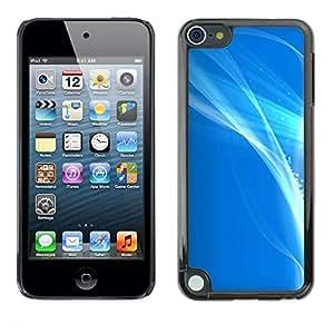 TopCaseStore / la caja del caucho duro de la cubierta de protección de la piel - Shiny Bright White Sea Sky - Apple iPod Touch 5