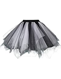 Adult Women 80's Tutu Skirt Layered Tulle Petticoat Halloween Tutu