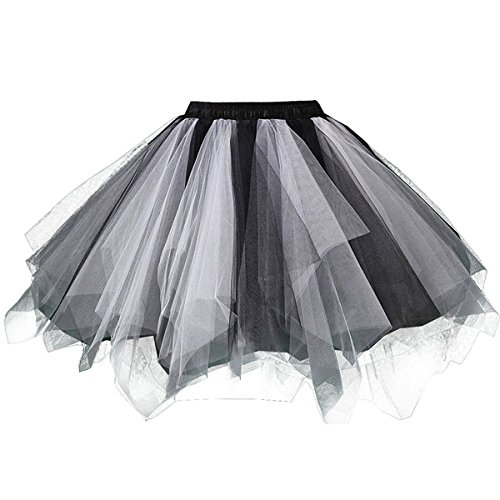 Girls Tutu Skirts Layered Tulle Princess Dresses Sparkle Halloween Tutu -