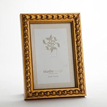 8x10 large bead gold leaf photo frame