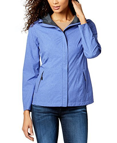 32 DEGREES Degree Womens Performance Rain Jacket (Baja Blue Melange, Large) (Performance Rain Jacket)