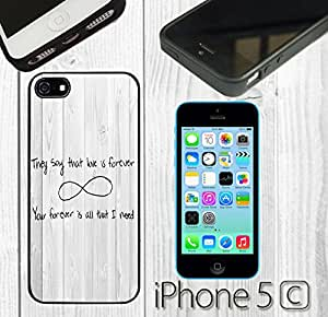 Love Forever Quote Custom made Case/Cover/skin FOR iPhone 5C - Black - Rubber Case