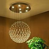 Cheap Saint Mossi Chandelier Modern K9 Crystal Raindrop Chandelier Lighting Flush mount LED Ceiling Light Fixture Pendant Lamp for Dining Room Bathroom Bedroom Livingroom 6 GU10 LED Bulbs Required H32 X D18