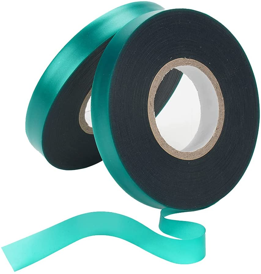 Wumeichao PVC Garden Tie Tape Stretch Tie Tape, Reusable Plant Ties Tapes Plant Ribbon Vinyl for Indoor Outdoor Patio Plant 2 Rolls 147 Feet
