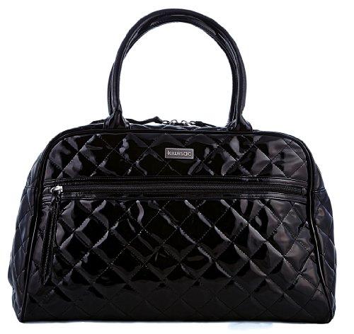 Kiwisac pour Bellemont 8002 Paloma - Bolso cambiador, diseño brillante, color negro