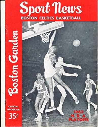 1963 4/21 Boston Celtics vs Los Angeles Lakers NBA Championship program