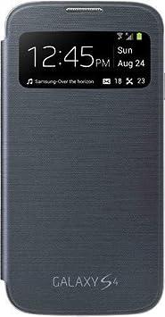 Samsung Original EF-CI950BBEGWW Flip Cover (kompatibel mit Galaxy S4) in schwarz