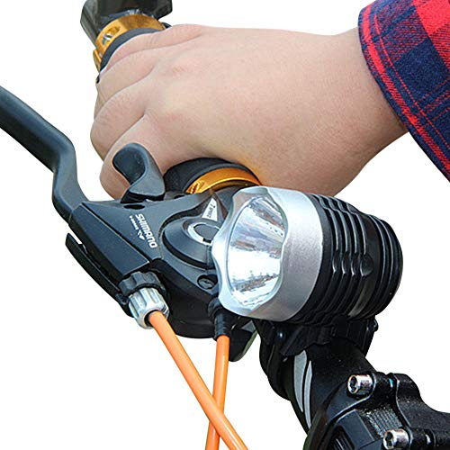 OUBAO Headlamp Headlight 3 Mode Bike Light Super Bright 3000 Lumens Bike Lights Front Waterproof Quick Release Taillight Bicycle Flashlight for Safe Cycling-Fits All Bikes-Include 2x2032 Li Battery