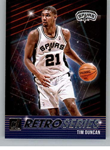 (2018-19 Donruss Retro Series Basketball Insert #11 Tim Duncan San Antonio Spurs Official NBA Trading Card Produced By Panini)
