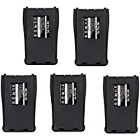 Retevis 1000mAh Two-Way Radio Batteries Replacement Battery for Baofeng 777S 888S 666S Retevis H777 Walkie Talkie (5 Pack)