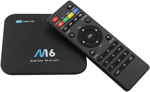 Docooler M16 Smart TV Box Android 7.1 Amlogic S905X Quad-core UHD 4K 1GB / 8GB H.265 VP9 HDR10 LAN & WiFi HD Media Player EU Enchufe: Amazon.es: Electrónica