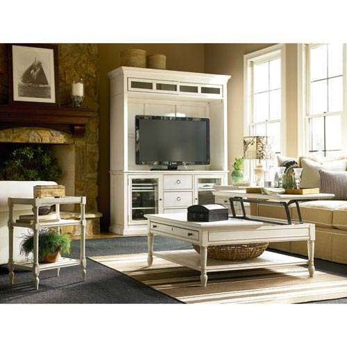 Universal Furniture 987968C Summer Hill Entertainment Console with Deck, Cotton