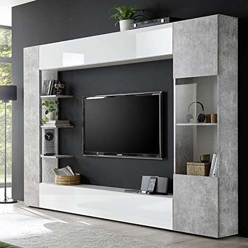 Kasalinea Soprano 2 - Mueble para televisor de Pared, Color Blanco ...