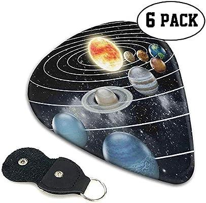 Púas de guitarra 6 piezas, Sistema Solar Los ocho planetas y el ...