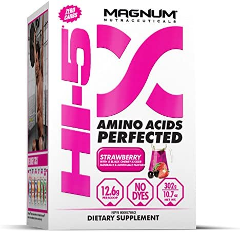 Magnum Hi-5, 5-Phase Amino Acid Supplement – Strawberry