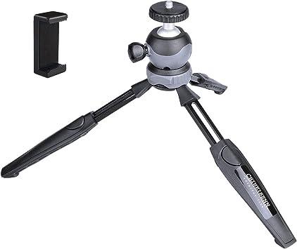 Color : Black, Size : One Size Tripod Durable Mini Tabletop Tripod Tripod Monopod Holder 360 Degree Ball Head for DSLR Camera Camcorder