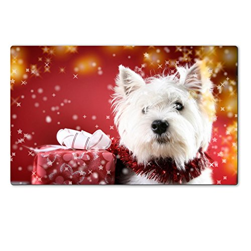 Luxlady Large TableMat Cute white puppy with present and  : 51KbVZhM7HL from www.desertcart.ae size 500 x 500 jpeg 39kB