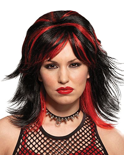 Black Red Goth Wig Punk Rocker Gothic Theatre Costumes (Punk Rockers Costume Ideas)