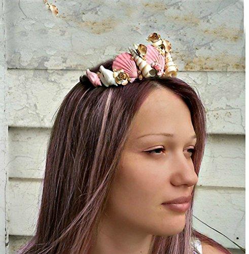 Pink Seashells Girl Crown, Mermaid hair accessories, costume Ariel by Handmade AnaMarina