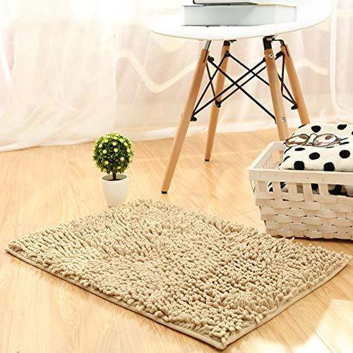 LGXH Soft Absorbent Chenille Carpet Non-Slip Doormat Plush Bath Mat Rug Carpet Floor Rug Indoor Area Rug 1.64'x3.94' Camel ()