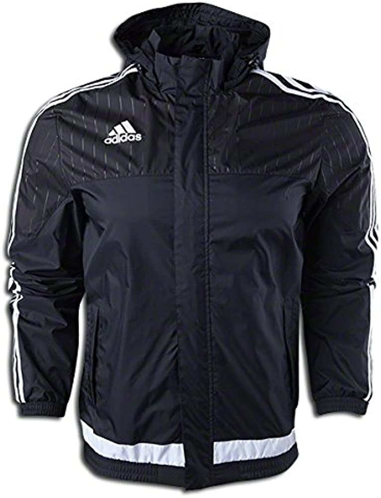 ven juego Suponer  Amazon.com: adidas Tiro 15 - Chaqueta impermeable (talla M), color negro:  Clothing