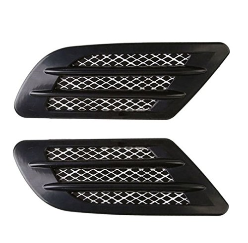 /Set of 2/Decorative Adhesive Air Flow Fender Left Bonnet Air Inlet Grille Vent Decoration Sticker Sport Style Tuning air intake Cover Inion/® Black/