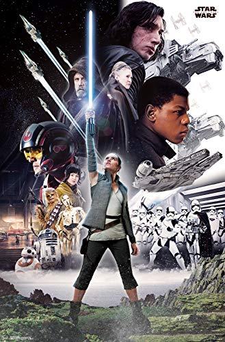 Trends International Star Wars: The Last Jedi-Group Mount Bundle Wall Poster, 22.375