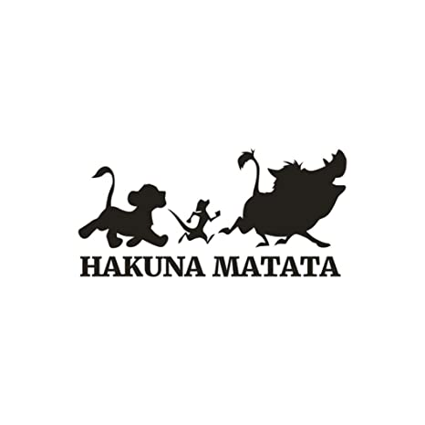 Leyorie HAKUNA MATATA Quotes Wall Stickers, Cartoon Removable Wall Decals  Home Decor Wall Decoration Art Wall Murals