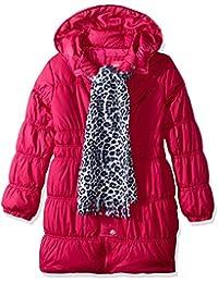 Image result for Sportoli Girls Hooded Warm Winter Long Puffer Bubble Coat