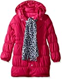 Pink Platinum Girls' Long Puffer Jacket with Accessory