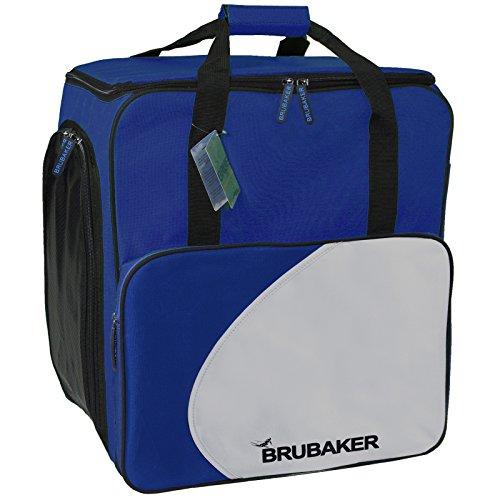 BRUBAKER SUPER FUNCTION 'Lake Placid' Wintersporttasche Skischuhrucksack Stiefeltasche Skischuhtasche Helmtasche mit Rucksackfunktion. Farbe: Blau