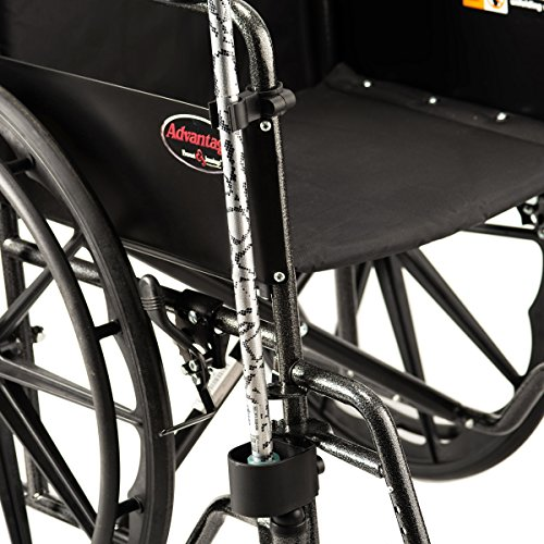 Bodyhealt Cane Holder for Wheelchairs, Rollators, and Crutches - Black by BodyHealt (Image #2)