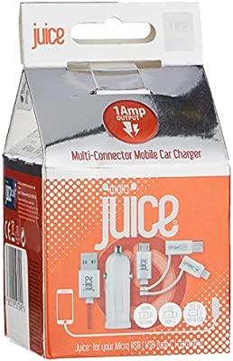 Juice - Cargador de Coche con Conector múltiple, 1 A: Amazon ...