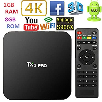 TX3 PRO Android 6 0 Amlogic S905X Quad Core Set-top Box RAM 1G ROM 8G TV Box