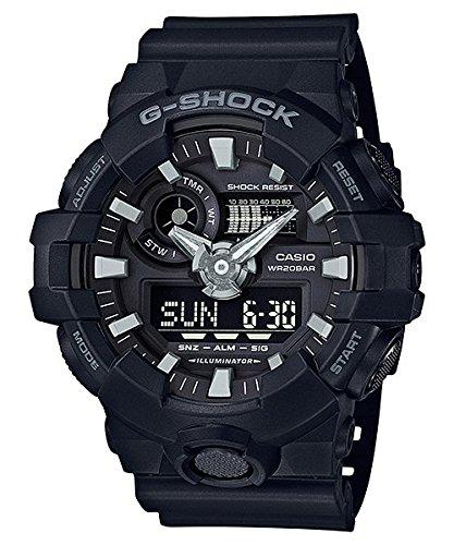 Casio Men's 'G Shock' Quartz Resin Casual Watch, Color:Black (Model: GA-700-1BCR) (Casio Watch Electronic)
