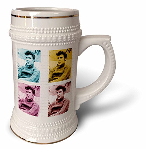 3dRose RinaPiro - Elvis Presley - American singer and actor. King of Rock and Roll. Legend. Pop Art. - 22oz Stein Mug (stn_266056_1) (Elvis Presley Stein)