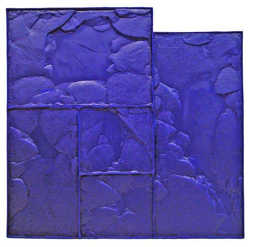BonWay 12-940 24-Inch by 24-Inch Ashlar Cut Stone Urethane Floppy Mat, Blue ()