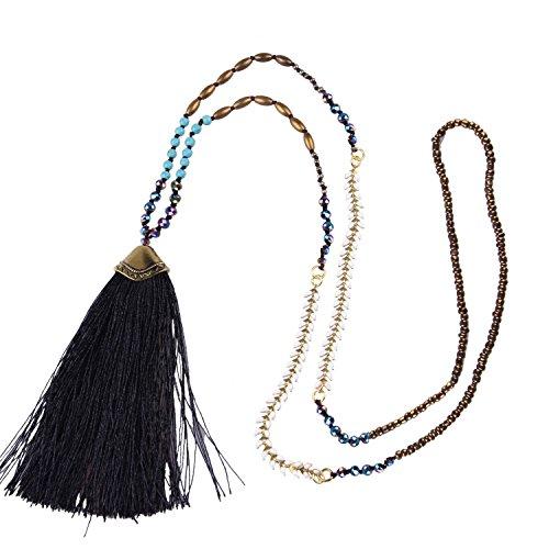 KELITCH Syuthetic Turquoise Necklace Layering