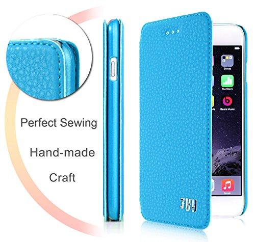 iPhone 6 plus(5.5 inch) Tasche Schutzschale, Fyy hochwertige umweltfreundliche KunstlederHülle (Tasche Schale Schutzhülle Case Cover Etui) Blau für iPhone 6 plus(5.5 inch)