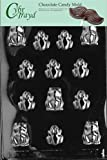 Cybrtrayd Life of the Party A002 Frogs Chocolate Candy Mold in Sealed Protective Poly Bag Imprinted with Copyrighted Cybrtrayd Molding Instructions