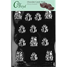 Cybrtrayd A002 Frogs Chocolate Candy Mold with Exclusive Copyrighted Molding Instructions