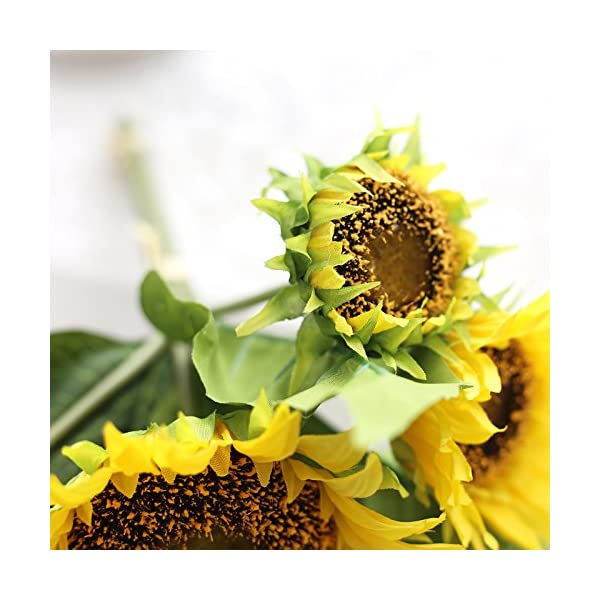 Artificial-Fake-Flowers-4-Pcs-6-Head-Sunflowers-Arrangement-Home-Wedding-Outdoor-Festive-Party-Decor-UV-Resistant-Plants-Shrubs-Greenery-for-Window-Box-Patio-Yard-Indoor-Garden-Office-Decor