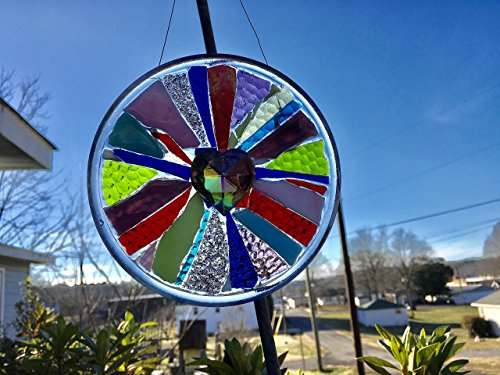Heart Stained Glass Window Art sun catcher by Mountain Mosaics (Image #1)