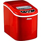 Avalon Bay Portable Countertop Ice Maker Machine, Automatic Icemaker with Digital Controls, Makes 26 lbs of Ice, Red