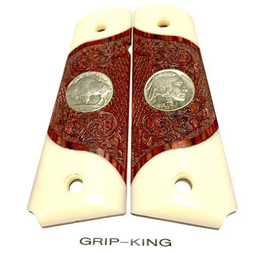 - 1911 GRIPS SALE $45.73 GENUINE U.S. MINT BUFFALO NICKELS.Fits Colt,Kimber,Ruger,Springfield,Para,Sig clones.