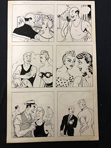 Joe Palooka Unpublished Comic Book Page 1957