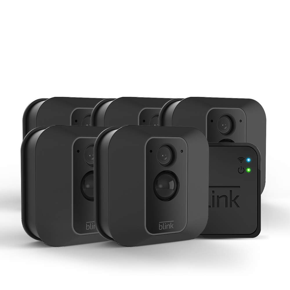 All-new Blink XT2 Outdoor/Indoor Smart Security Camera with cloud storage included, 2-way audio, 2-year battery life - 5 camera kit by Blink Home Security