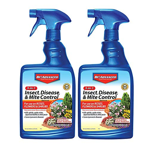BioAdvanced 701290B Insecticide Fungicide Miticide 3-in-1 Insect, Disease & Mite Control, 24 oz, Ready-to-Use (Pack of 2…