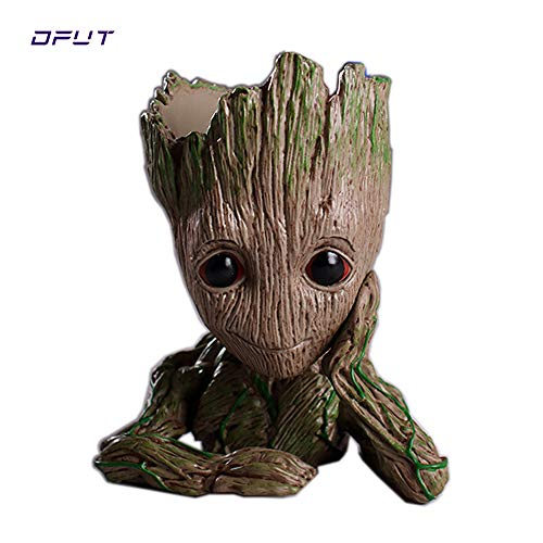 Best Quality - Action & Toy Figures - Action Figures Guardians of The Galaxy Groot Flower Pot Baby Cute Model Toy Pen Pot Home Decoration Grootted Doll Tree Man - by ORSTAR - 1 PCs